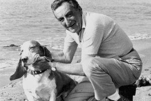 Mario Bava con il suo cane