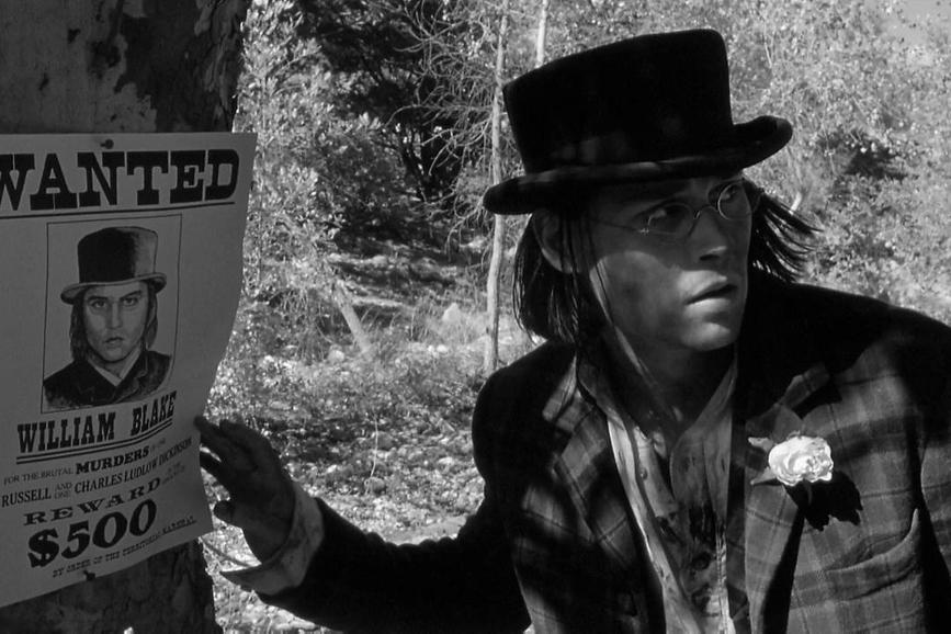 """Dead Man"" di Jim Jarmusch, con Johnny Deep"