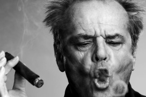 Jack Nicholson con un sigaro