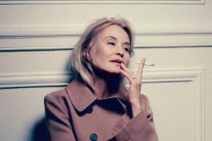Jessica Lange mentre fuma