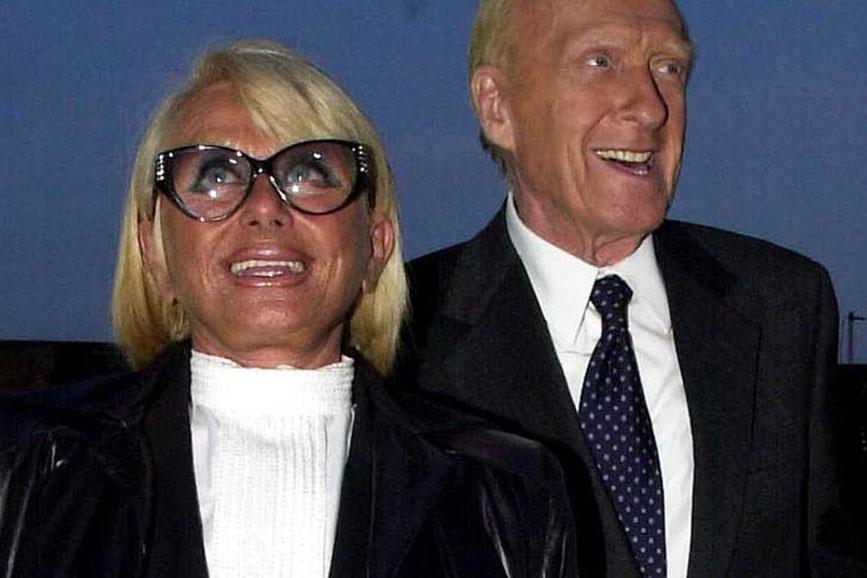 Sandra Mondaini e il marito