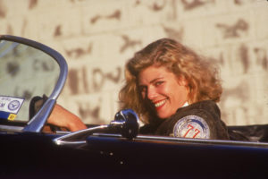 Kelly McGillis in auto