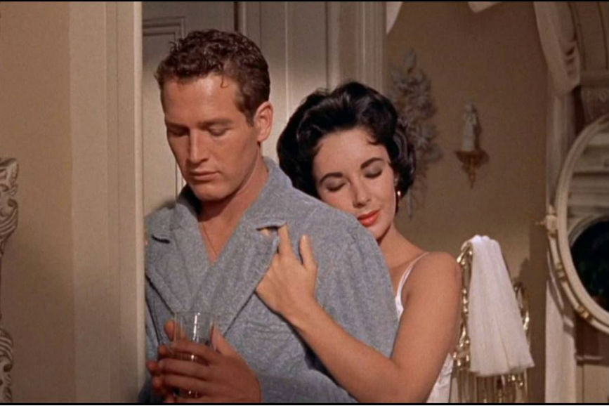 Paul Newman con Liz Taylor