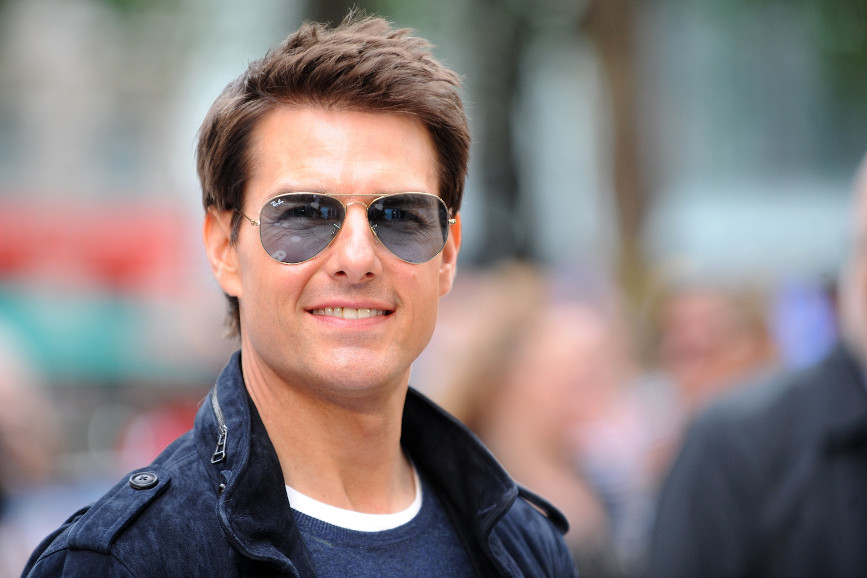 Tom Cruise in un'inedita scena di azione sul set di
