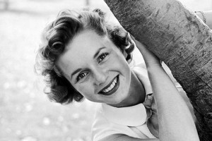 Debbie Reynolds in spiaggia