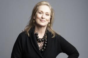 Meryl Streep sfondo grigio