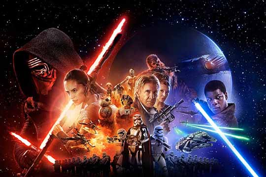 "Box office USA: ""Star Wars: The Force Awakens"" primo tra le tre new entry sul podio"