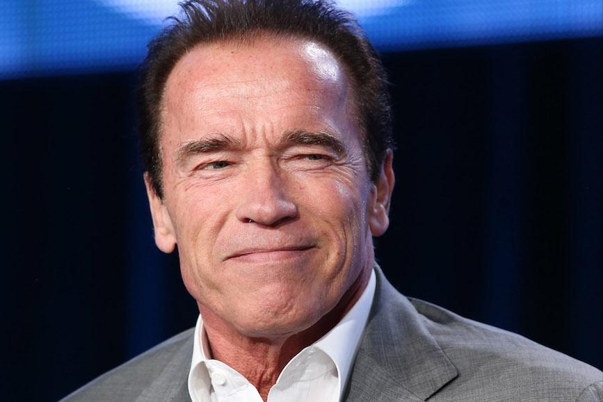 Arnold Schwarzenegger insieme a Michael Fassbender in