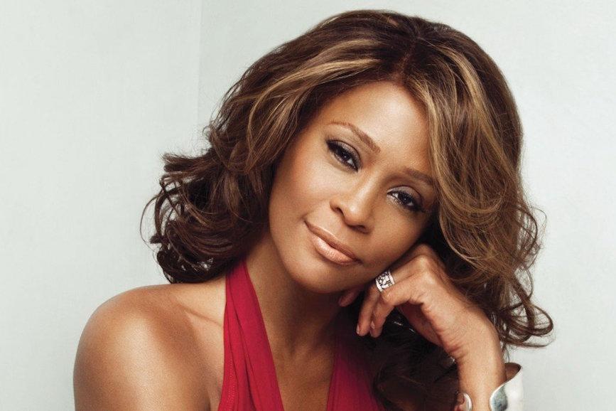 Whitney Houston Sfondo Bianco