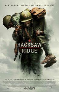 """Locandina di """"La Battaglia di Hacksaw Ridge"""", film che ha ricevuto molteplici candidature agli Oscar 2017"""