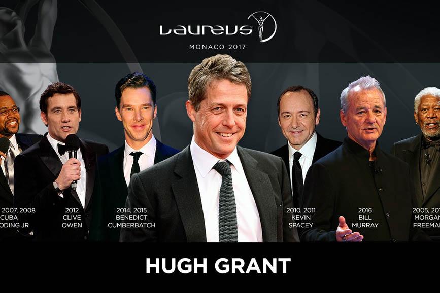 Hugh Grant: sarà lui a presentare i Laureus Awards