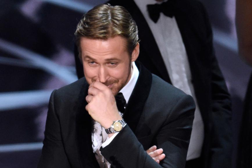 Ryan Gosling e l'equivoco agli Oscar 2017 - ecco perchè rideva