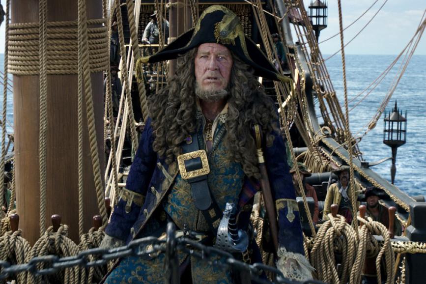Pirati dei caraibi 5 Geoffrey Rush