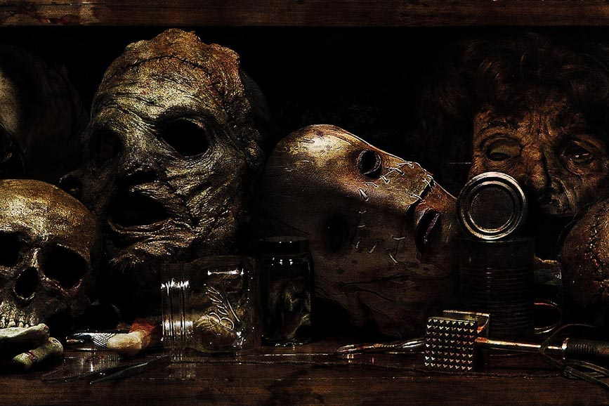 Leatherface maschere pelle umana