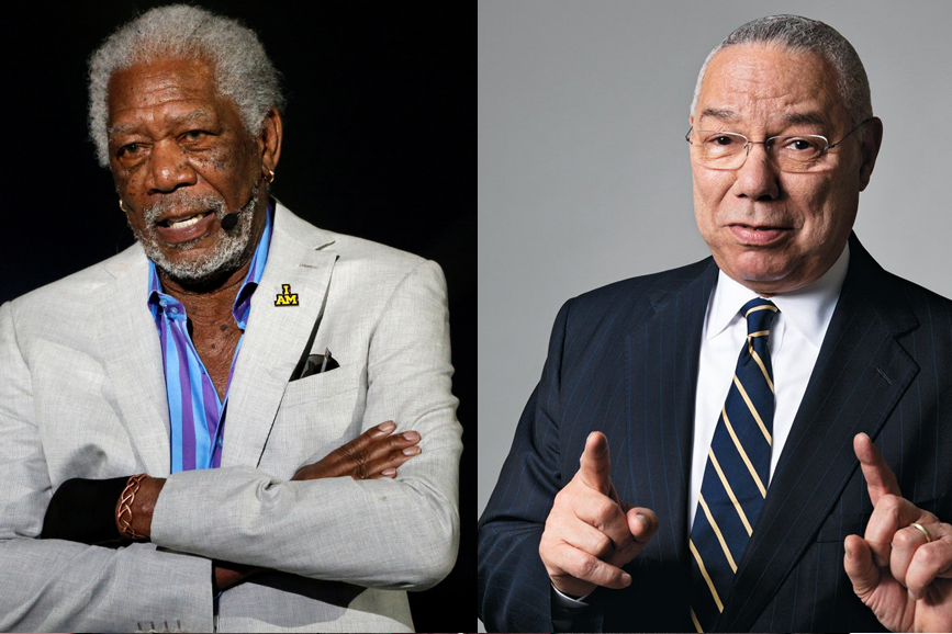 Morgan Freeman Colin Powell
