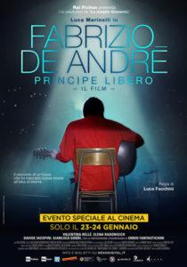 Fabrizio De André - Principe libero locandina ufficiale