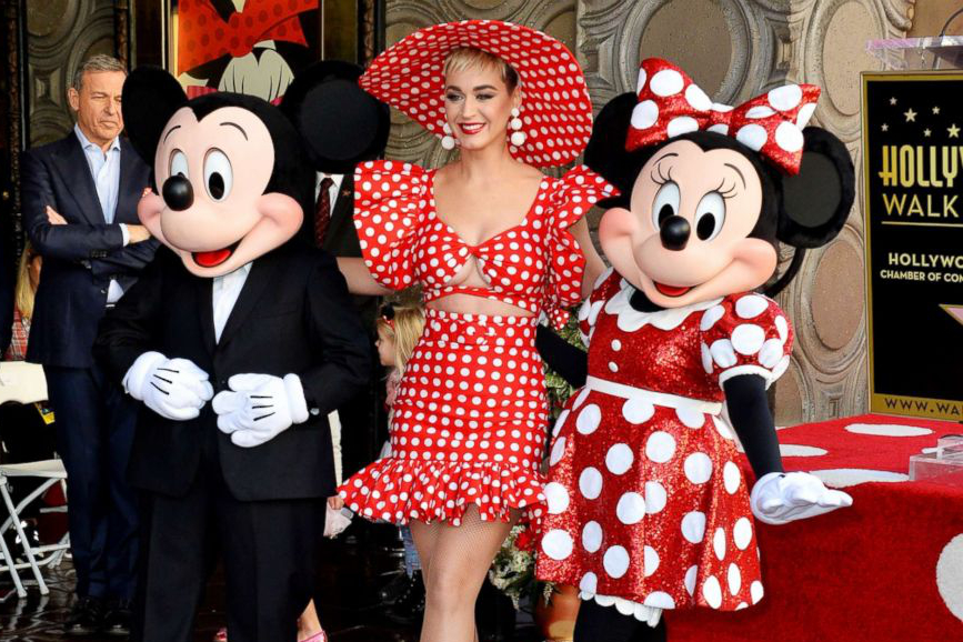 Minnie Mouse, Topolino e Katy Perry - Walk of Fame