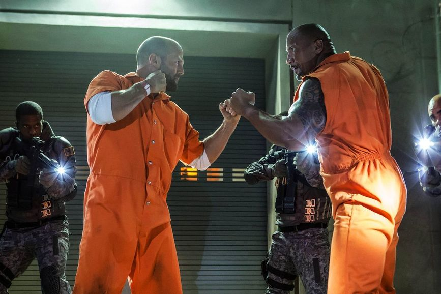 jason statham e dwayne johnson F&F