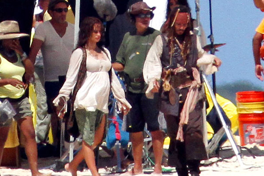 Penelope Cruz e Johnny Depp foto set