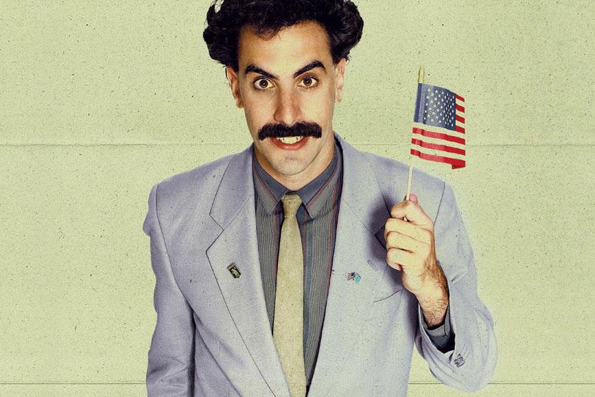 Sacha Baron Cohen bandiera USA