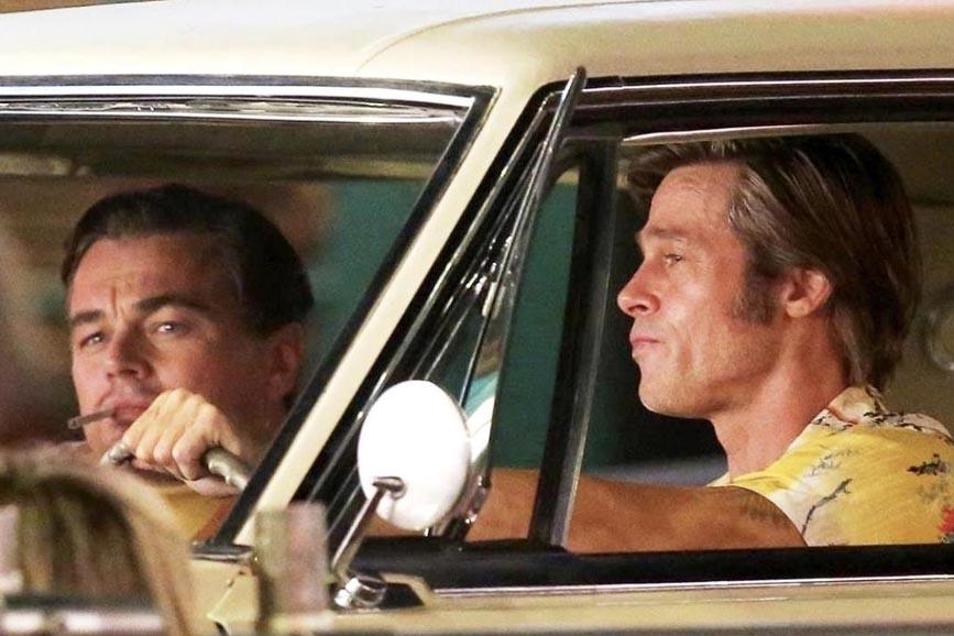 Quentin Tarantino Brad Pitt Leonardo DiCaprio