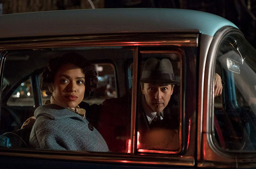 Motherless Brooklyn: Edward Norton e Gugu Mbatha- Raw incontrano la stampa