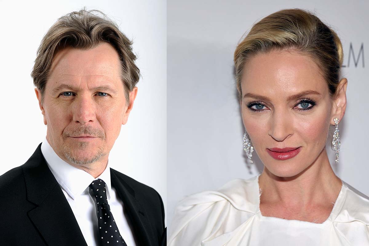 Uma Thurman e Gary Oldman in Inghilterra per Apple tv+