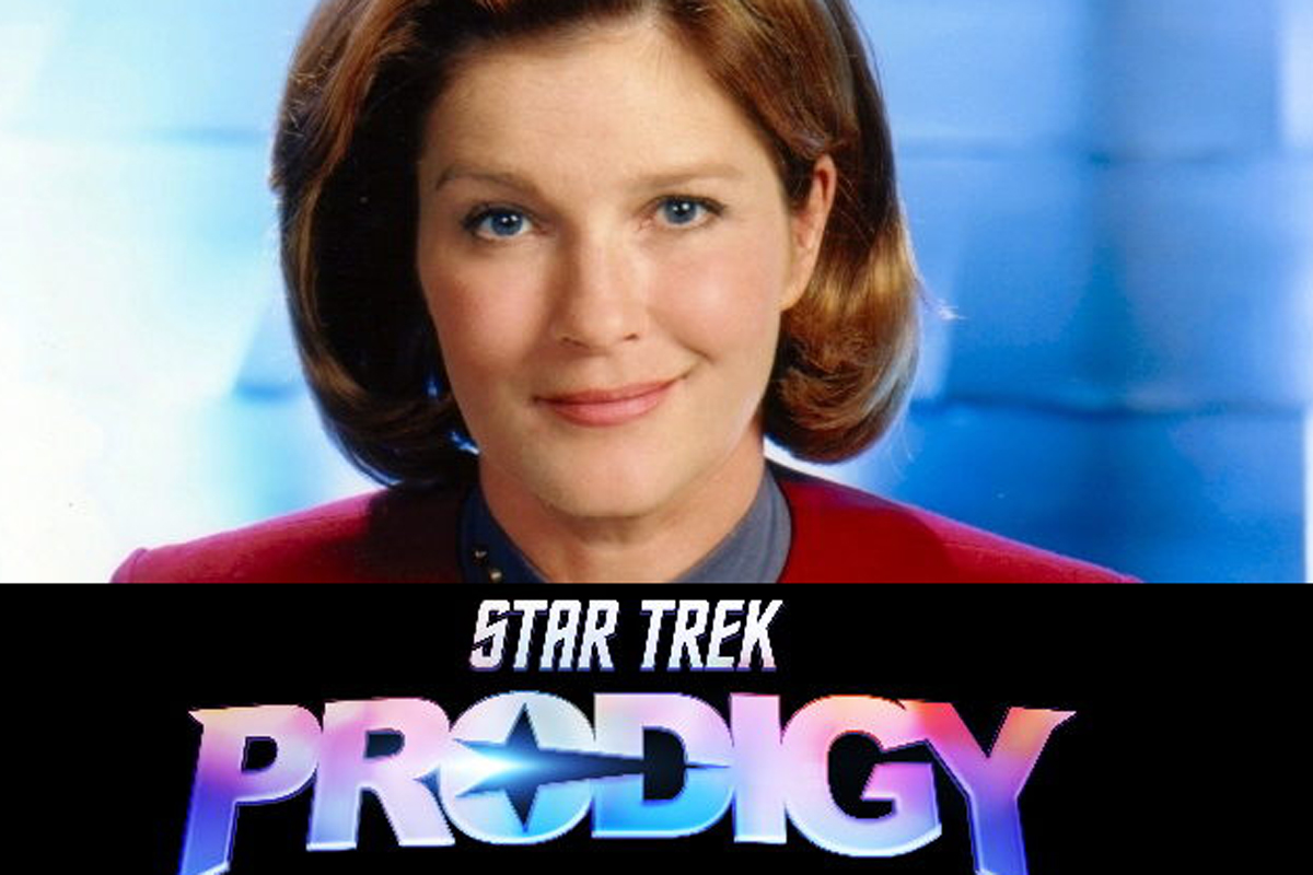 Kate Mulgrew nel ruolo del Capitano Janeway in Star Trek: Prodigy