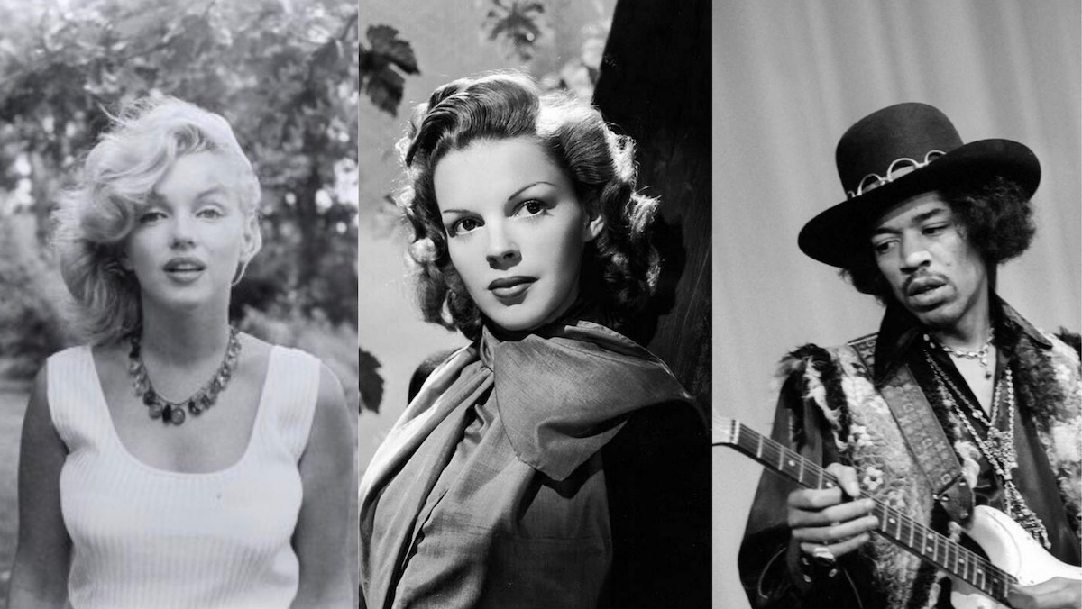 Marilyn Monroe Judy Garland E Jimi Hendrix Ecodelcinema
