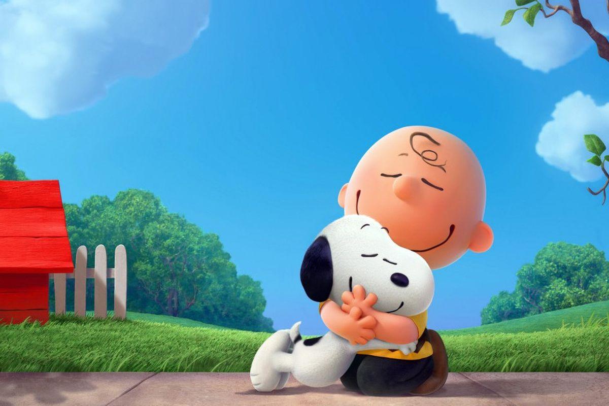Peanuts and friend blue sky