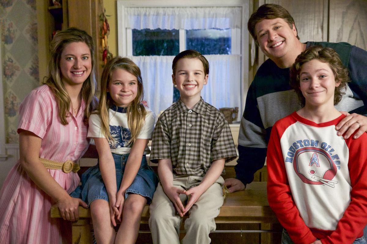 Young Sheldon family